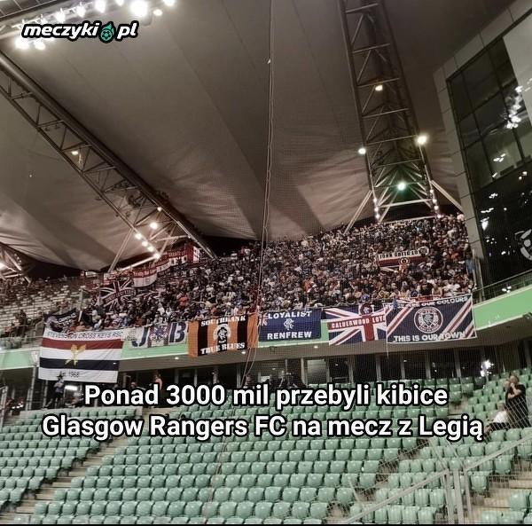 Kibicom Glasgow Rangers FC niestraszna odległość