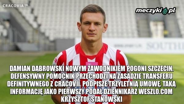 Damian Dąbrowski nowym zawodnikiem Pogoni Szczecin
