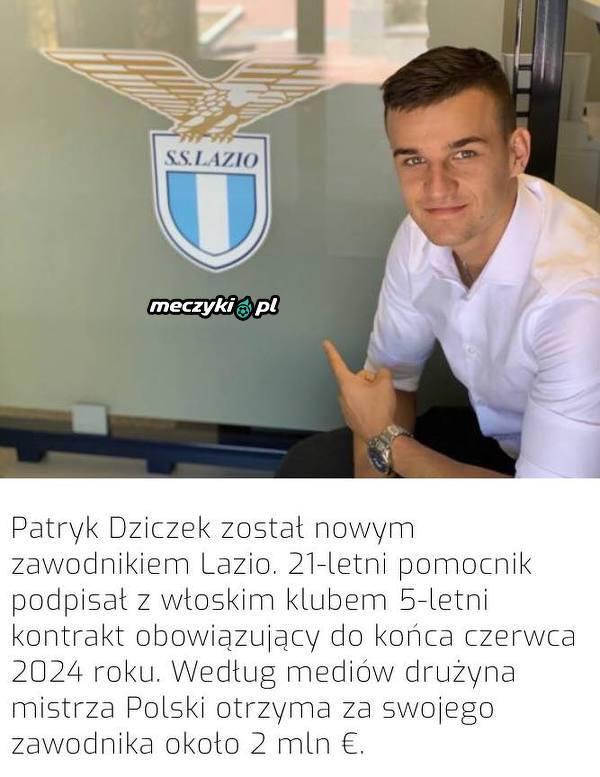 Oficjalnie: Patryk Dziczek piłkarzem Lazio