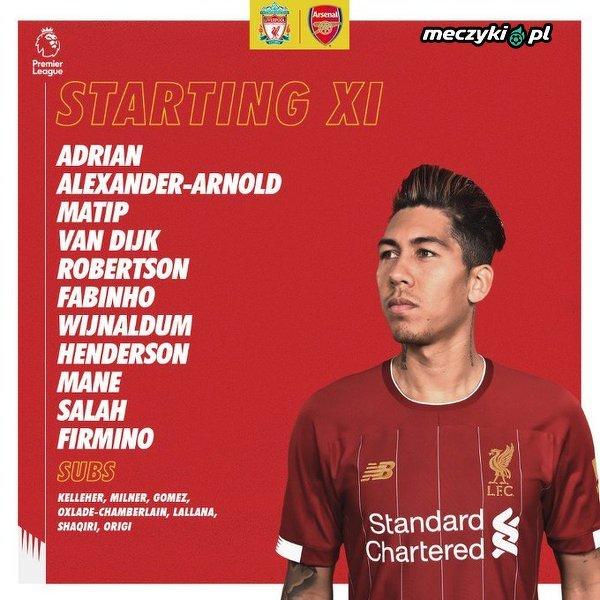 XI Liverpoolu na hitowe starcie z Arsenalem