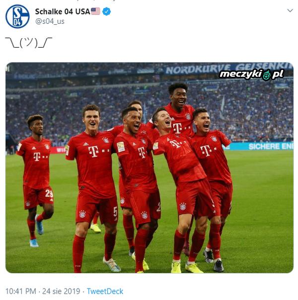 Schalke drwi z zagrań rękami piłkarzy Bayernu