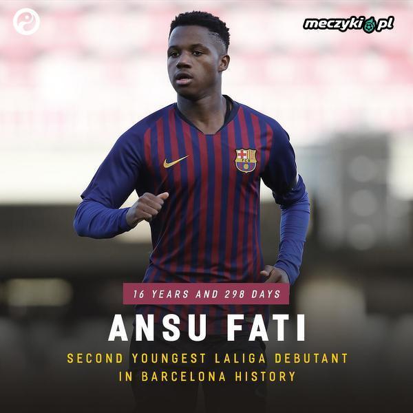 Drugi, najmłodszy debiutant w La Liga w historii Barcelony
