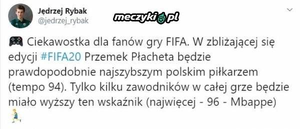 Najszybszy Polak w grze FIFA 20