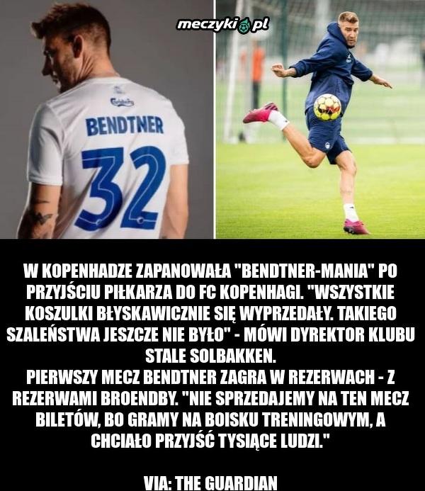 W Kopenhadze szaleją na punkcie Bendtnera