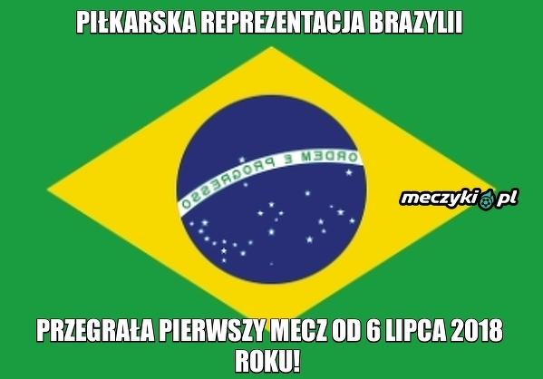 Koniec świetnej passy reprezentacji Brazylii