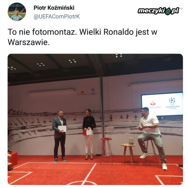 Ronaldo w Warszawie
