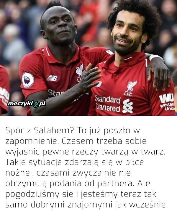 Mane pogodził się z Salahem