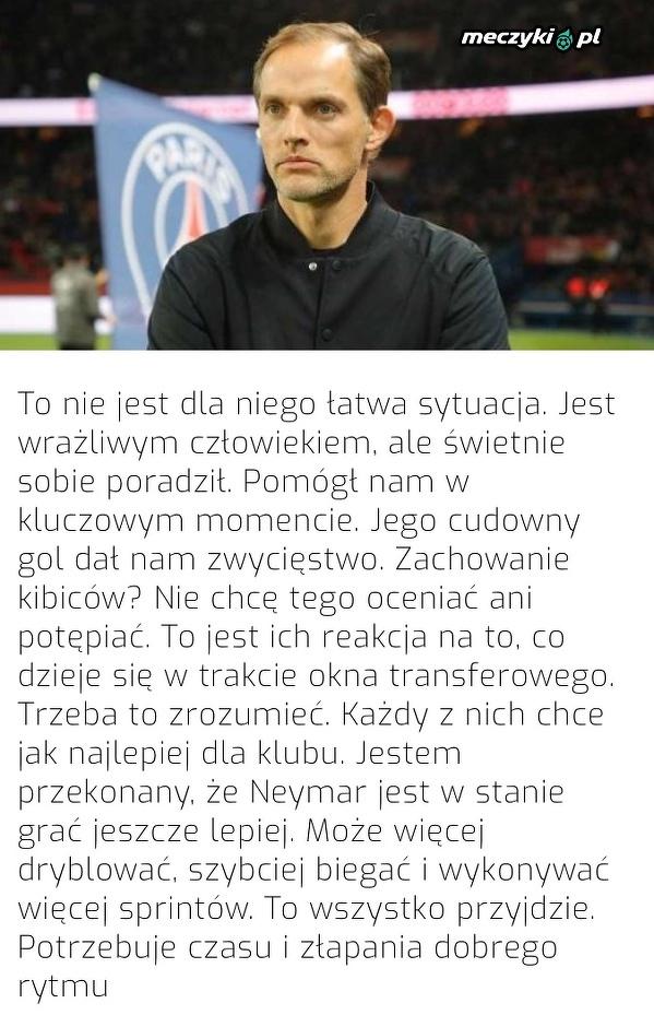 Tuchel o zachowaniu kibiców PSG i ostatnim występie Neymara