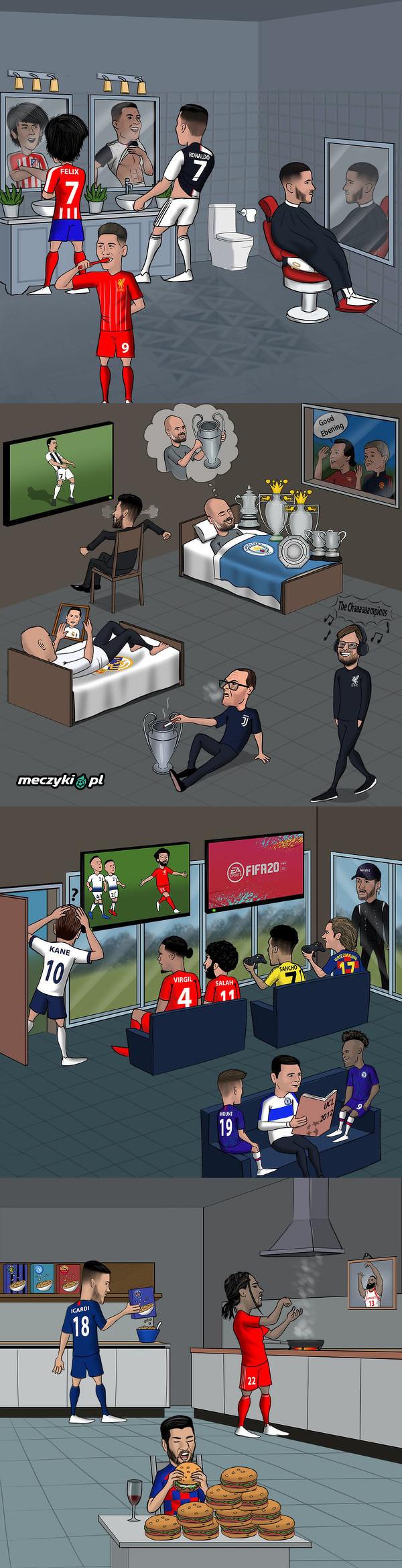 Ostatnie chwile przed startem Ligi Mistrzów