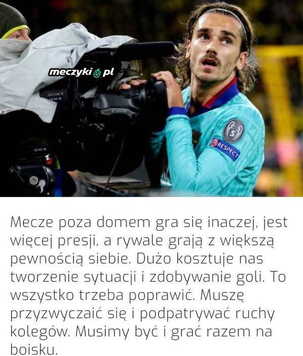 Griezmann skomentował postawę Barcelony na wyjazdach