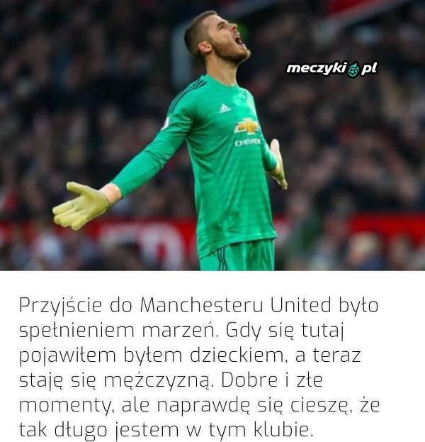 De Gea świetnie się czuje w Manchesterze United