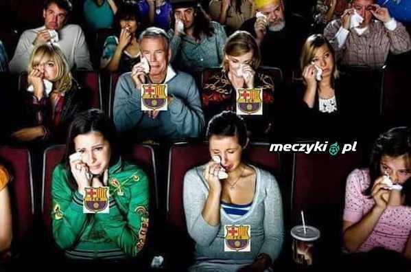 Kibice Barcelony oglądając wczorajaszy mecz
