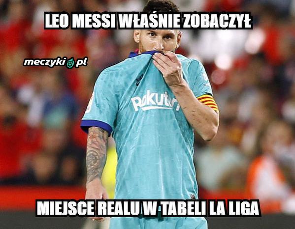 Messi zaskoczony sytuacją w tabeli