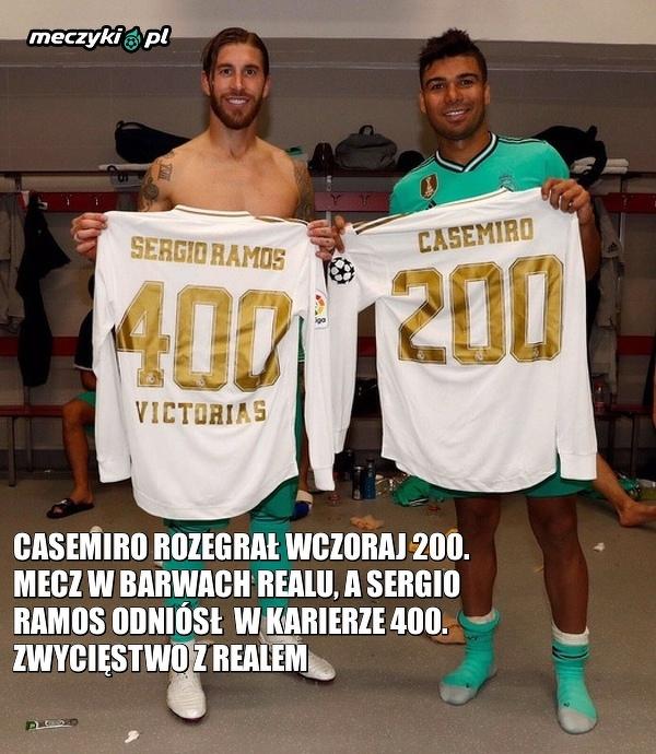 Wyjątkowy mecz dla Ramosa i Casemiro