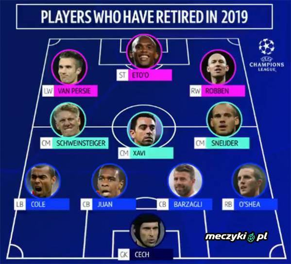 XI piłkarzy, którzy w tym roku zakończyli kariery