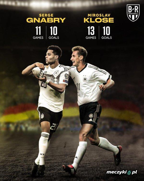 Serge Gnabry piłkarzem, który najszybciej strzelił 10 bramek dla reprezentacji Niemiec