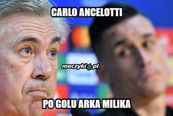 Ancelotti zaskoczony strzałek Milika