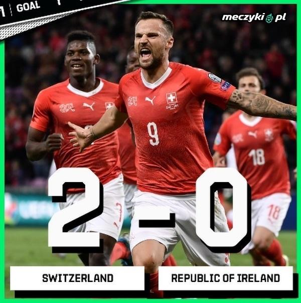 Szwajcaria pozostaje w grze o Mistrzostwa Europy