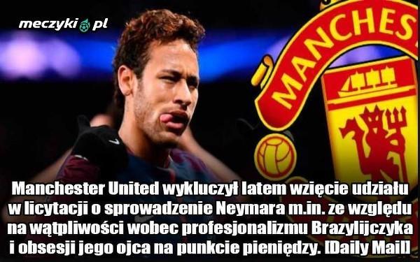 Manchester United nie chciał licytować Neymara