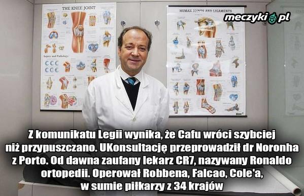 Znany lekarz zdiagnozował Cafu