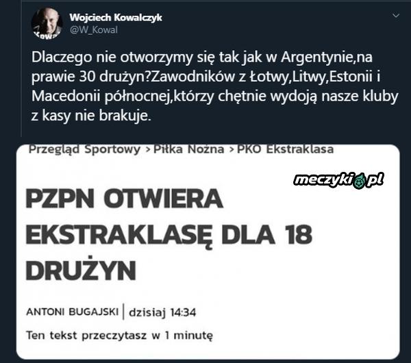 """Tak """"Kowal"""" podusmował rozszerzenie liczby zespołów Ekstrakalsy"""