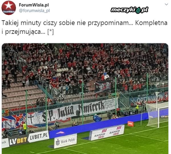 Kibice Wisły Kraków uczcili pamięć Julii Kmiecik