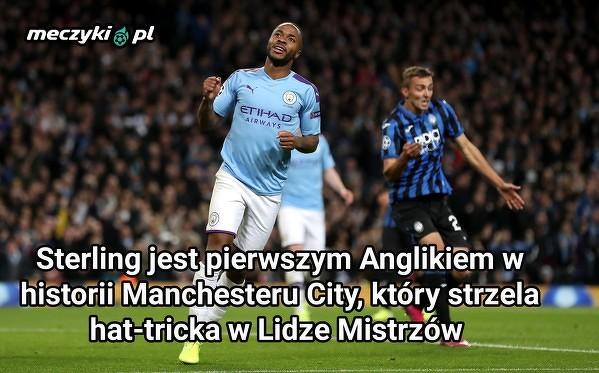 Tymczasem Sterling notuje hat-tricka dla Manchesteru City