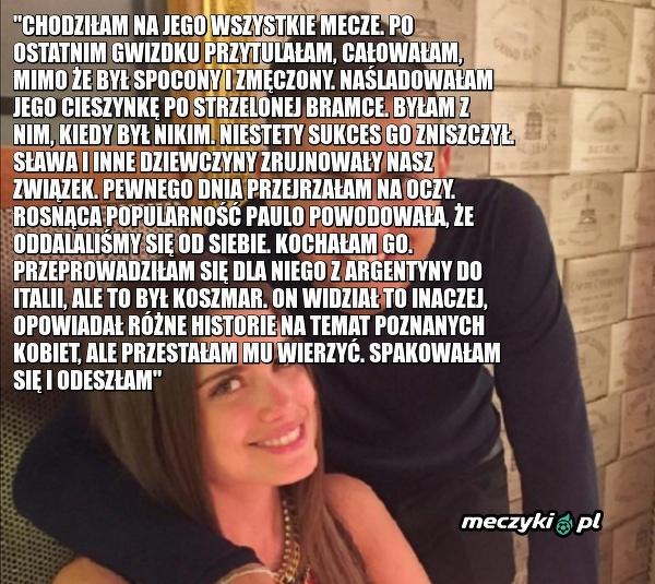 Wyznanie byłej dziewczyny Paulo Dybali