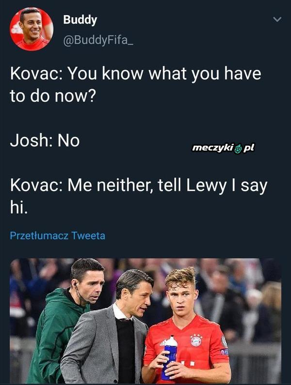 Kovac bierze przykład z Brzęczka