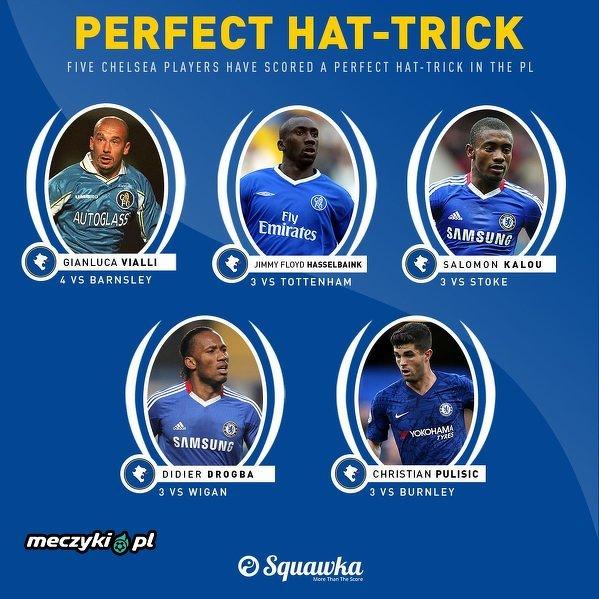 Pięciu zawodników Chelsea zdobyło idealnego hat-tricka w Premier League