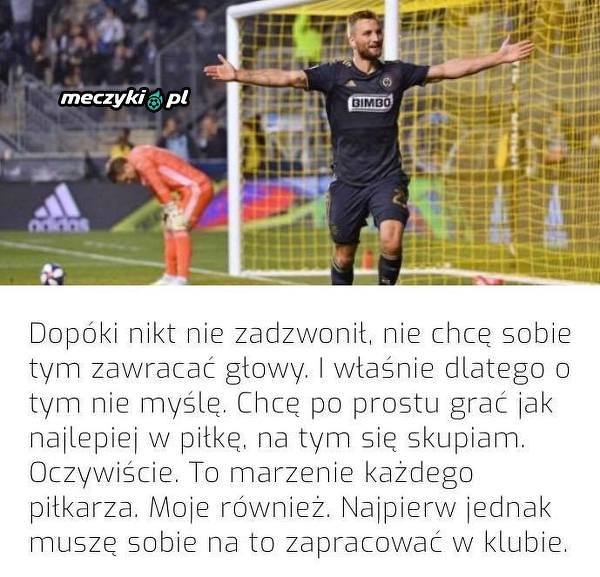 Kacper Przybyłko o reprezentacji Polski