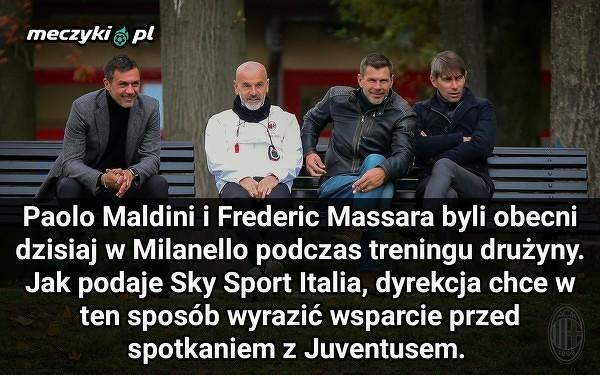 Wsparcie władz Milanu przed meczem z Juve
