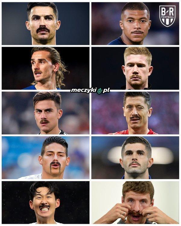 Piłkarze w stylu Movember