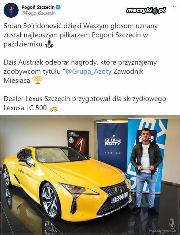 Opłaca się zostać Graczem Miesiąca w Pogoni Szczecin