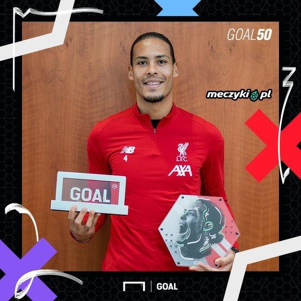 """Virgil van Dijk został najlepszym piłkarzem 2019 roku według serwisu """"Goal.com"""""""