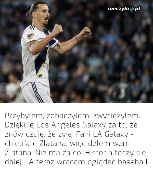 Zlatan pożegnał się z kibicami LA Galaxy