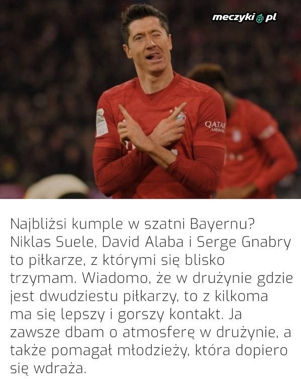 """To z nimi """"Lewy"""" trzyma w Bayernie"""