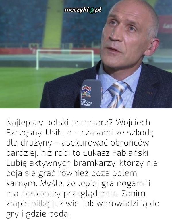 Maciej Szczęsny wskazał najlepszego polskiego bramkarza