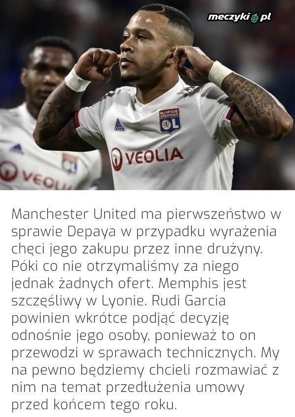 Manchester United ma pierwszeństwo w sprawie Depaya