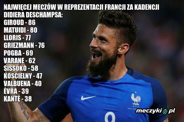Giroud ulubieńcem trenera reprezentacji Francji
