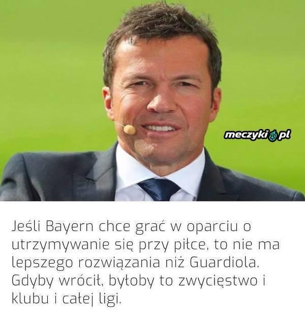 Matthaus chciałby, żeby Guardiola wrócił do Bayernu
