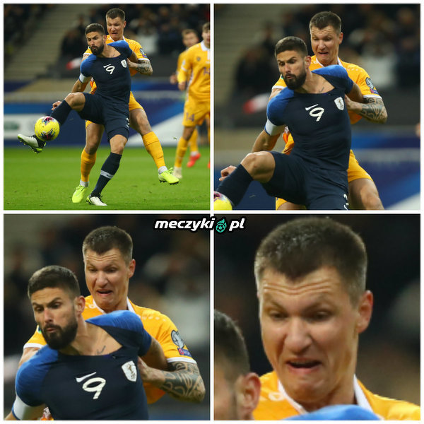 Kiedy próbujesz odebrać piłkę Giroudowi