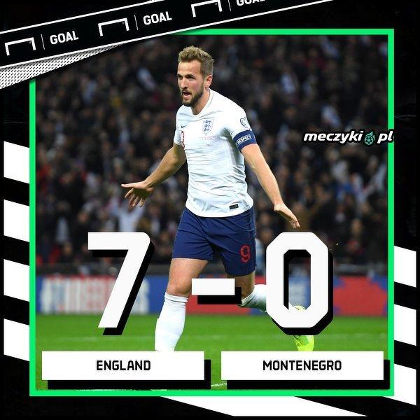 Anglia rozgromiła Czarnogórę i zakwalifikowała się na EURO 2020!