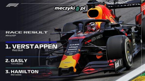 Max Verstappen wygrywa GP Brazylii