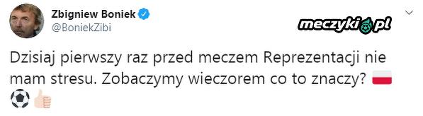 Boniek nie czuje stresu przed meczem ze Słowenią