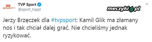 Kamil Glik chciał grać ze złamanym nosem