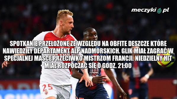 Mecz Monaco - PSG przełożony