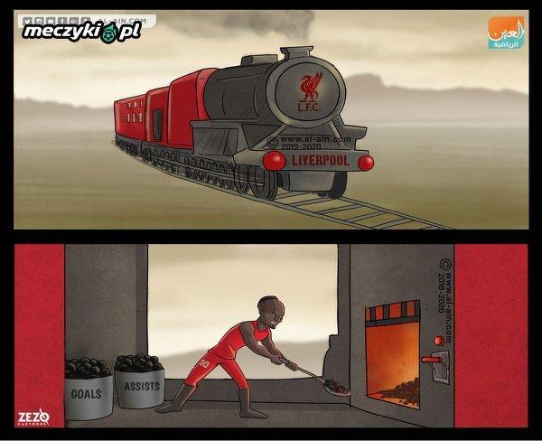 Mane napędza lokomotywę