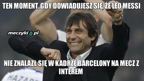 Messi odpoczywa, a Conte się cieszy