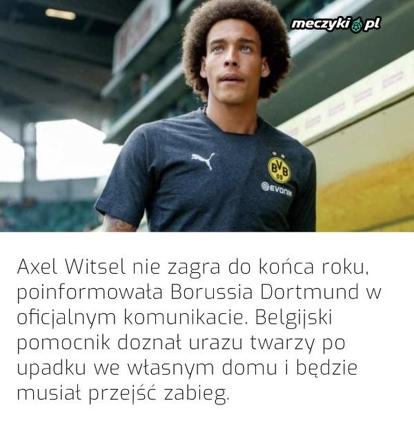Axel Witsel wypada z gry do końca roku
